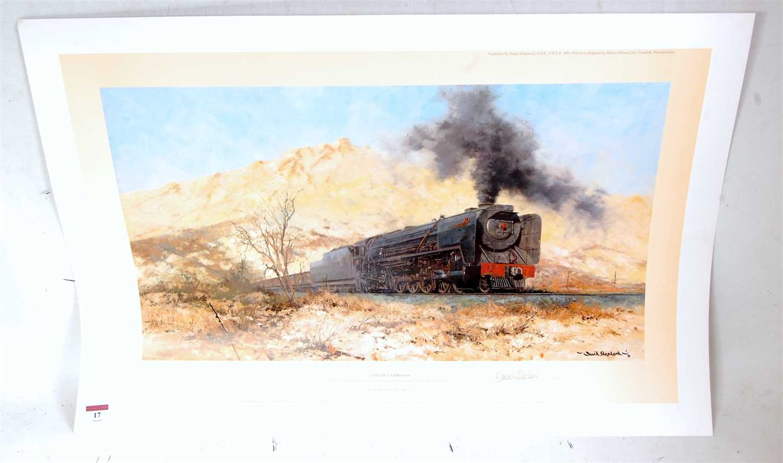 Lot 17-An original hand signed David Shepherd railway...