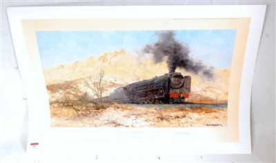 Lot 17-An original hand signed David Shepherd railway...