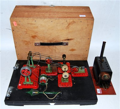 Lot 19-A scratch built miniature live steam boiler...
