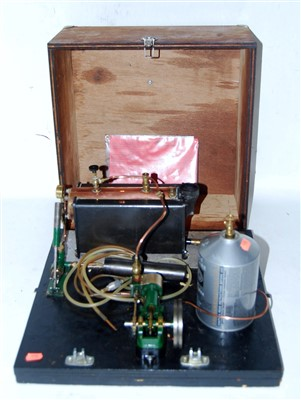 Lot 21-A Stuart Turner gas powered live steam stationary ...