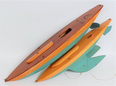 Lot 23-Two Bowman Models of Dereham wooden pond yacht...