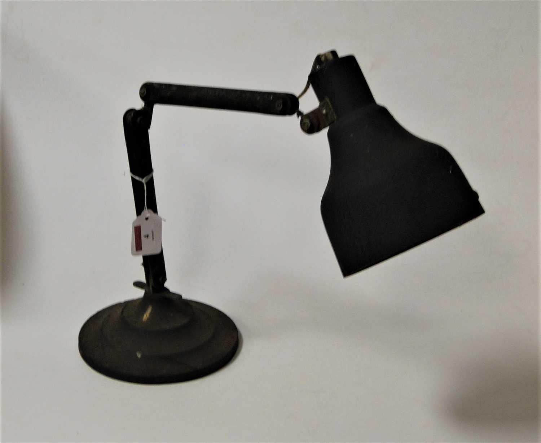 Lot 4-A 1950s industrial adjustable desk lamp