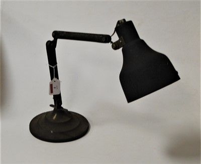 Lot 4-A 1950s industrial adjustable desk lamp