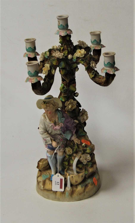 Lot 12-A 19th century continental porcelain floral...