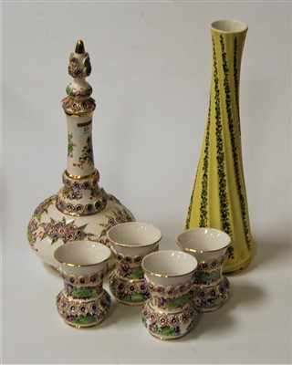 Lot 23-A modern Turkish porcelain decanter and stopper...