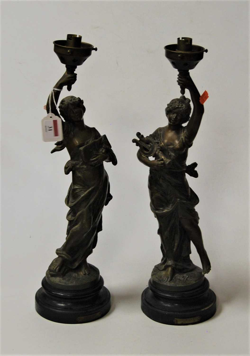 Lot 31-After Moreau, a pair of late 19th century spelter ...