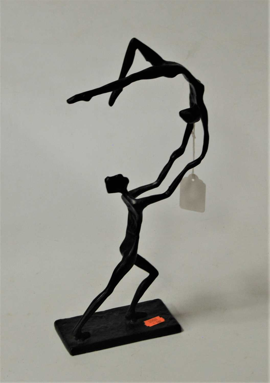 Lot 39 - A contemporary bronze figure of dancers,...