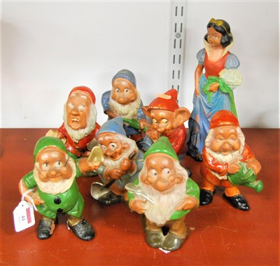 Lot 44-A set of painted and glazed terracotta figures...