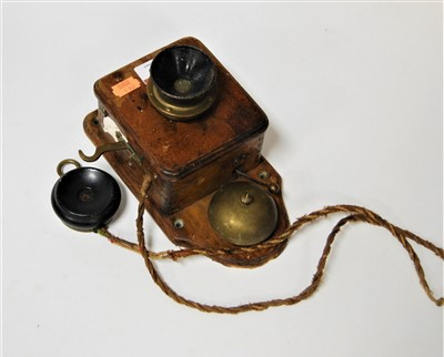 Lot 49-An early 20th century railway signal telephone