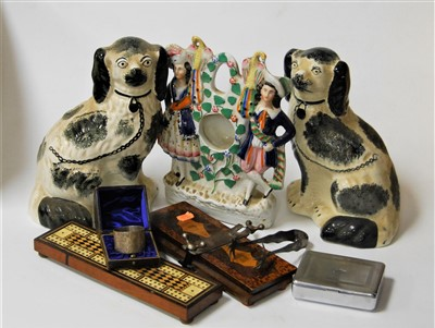 Lot 52-A Victorian Staffordshire pocket watch holder in...
