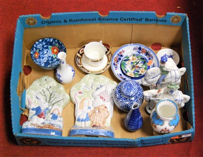 Lot 61-A box of miscellaneous china to include Rye...