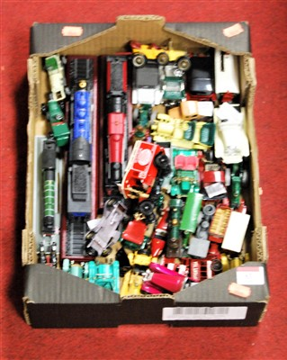 Lot 63-A box of loose diecast toy vehicles to include...