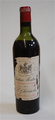 Lot 1001-Château Montrose, 1953, Saint Estephe, one bottle ...
