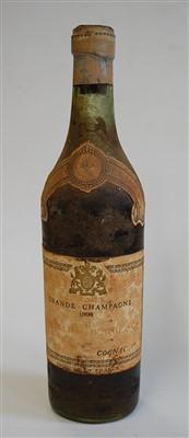 Lot 1303-Grande Champagne Cognac, 1808, J. Denis Mounie...