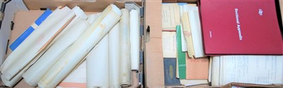Lot 26-Two trays containing civil engineers reference...