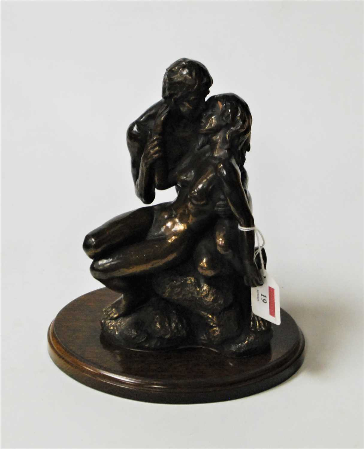 Lot 19-A modern bronzed figure group entitled The...