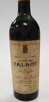 Lot 1004-Château Talbot , 1957, St Julien Medoc, one...