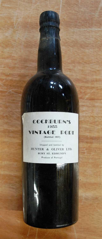 Lot 1268 - Cockburn's, 1955 vintage port, shipped and...