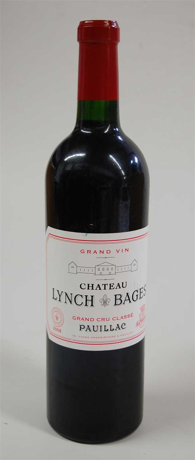 Lot 1005-Château Lynch-Bages, 2008, Pauillac, twelve...
