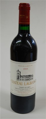 Lot 1009-Château Lagrange, 1988, St Julien, one bottle