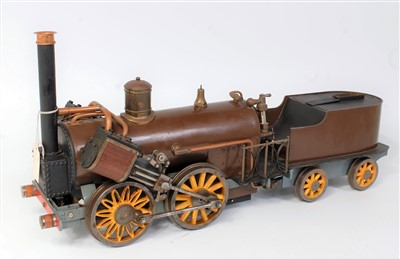 "Lot 28-A 3½"" gauge live steam kit built model for an..."