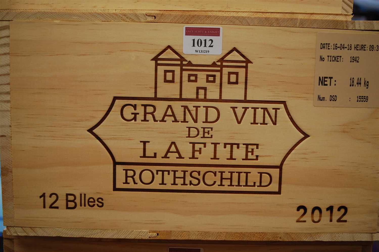 Lot 1012-Château Lafite Rothschild, 2012, Pauillac ,...