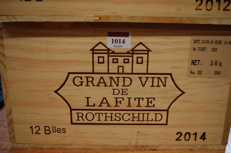 Lot 1014-Château Lafite Rothschild, 2014, Pauillac,...
