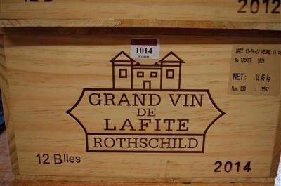 Lot 1014-Château Lafite Rothschild, 2014, Pauillac, twelve ...
