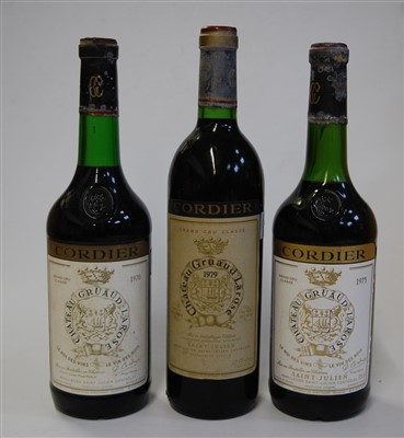 Lot 1015-Château Gruaud Larose, 1970, 1975, and 1979, St...