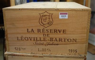 Lot 1019-La Reserve de Leoville-Barton, 1995, St Julien,...