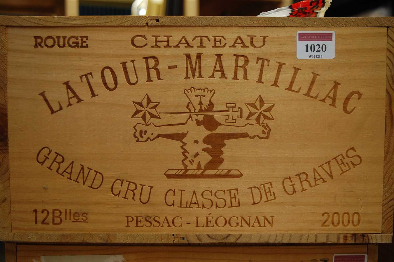 Lot 1020-Château Latour-Martillac, 2000, Pessac-Léognan,...