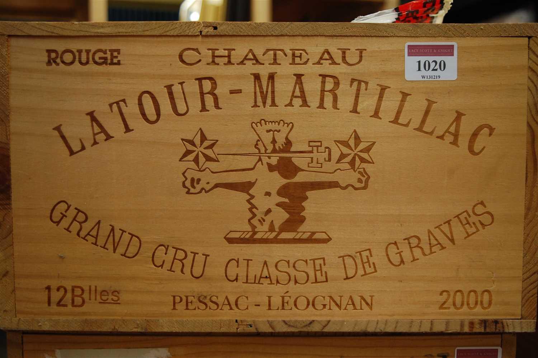 Lot 1001-Château Latour-Martillac, 2000, Pessac-Léognan,...
