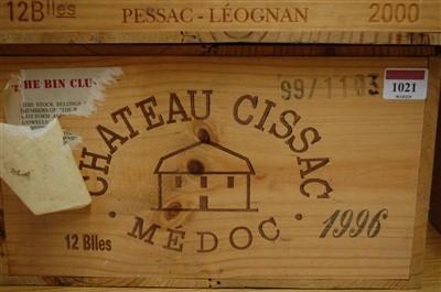 Lot 1021-Château Cissac, 1996, Medoc, twelve bottles (OWC)