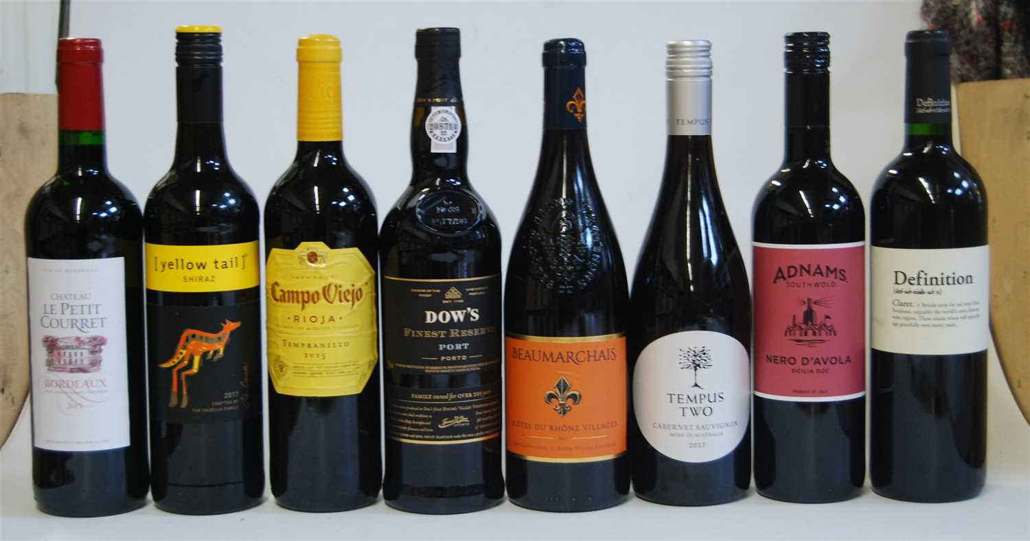 Lot 1031-Assorted red table wines, to include Château...