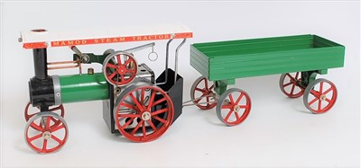 Lot 37-A Mamod TE1A steam traction engine comprising...