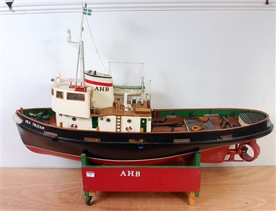 Lot 41-A very well made wooden and vac form hulled model ...