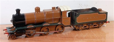 "Lot 44-A 2.5"" gauge 2-6-0 locomotive and tender fitted..."