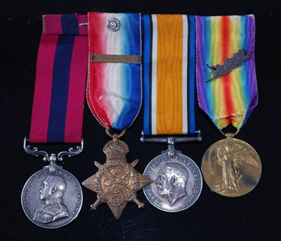 Lot 11-A Great War group of four medals to include