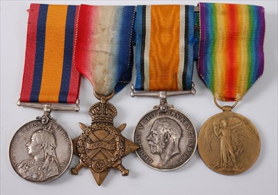 Lot 45-A Victoria/George V group of four medals to include