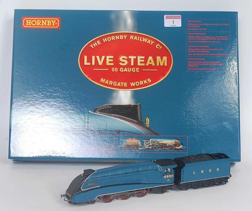 """Lot 1-A Hornby line steam 00 gauge class A4 """"Seagull""""..."""