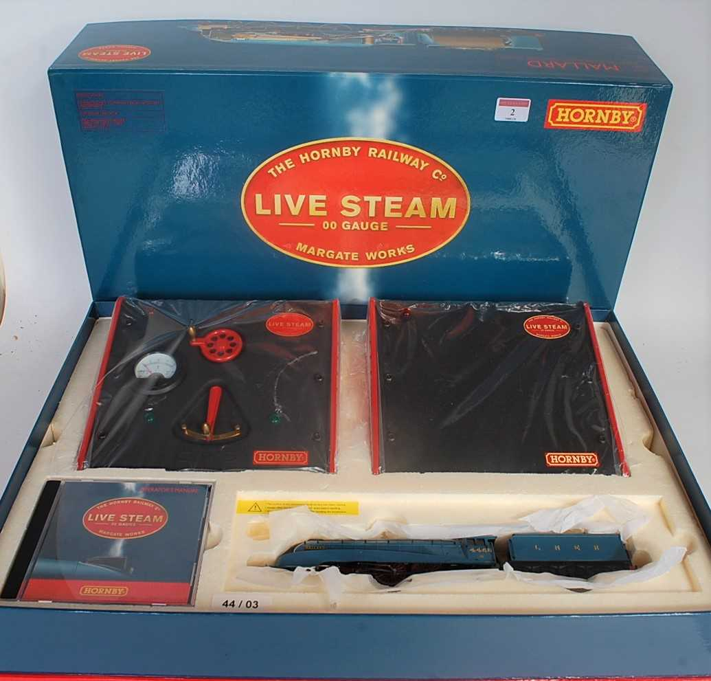 "Lot 2-A Hornby live steam 00 gauge class A4 ""Mallard""..."