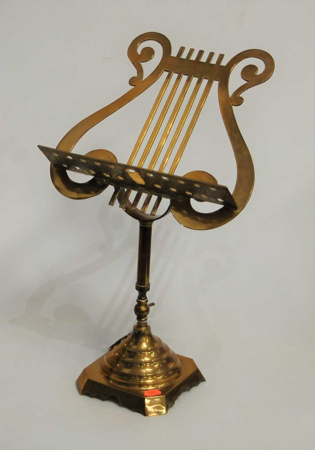 Lot 3-An early 20th century brass adjustable lectern,...
