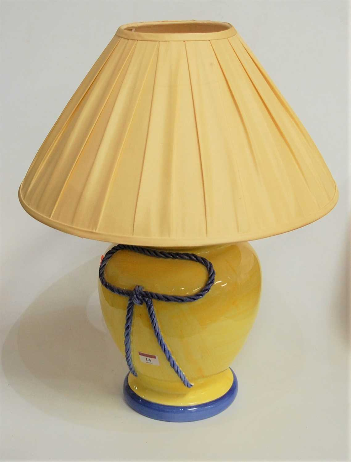 Lot 14-A large modern table lamp, of baluster form,...