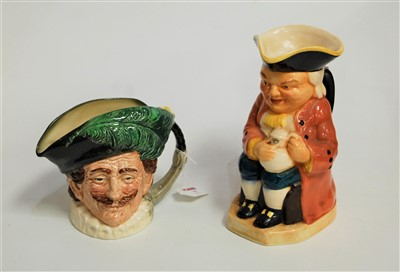Lot 19-A Burlington ware Toby jug, in typical seated...