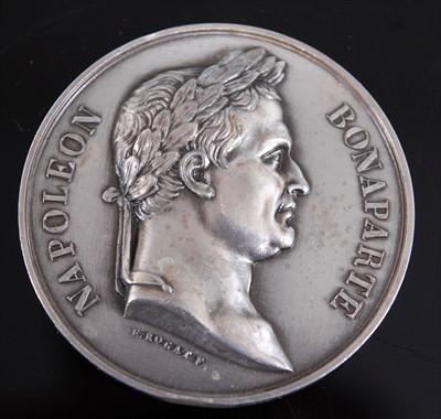 Lot 16-A Battle of Waterloo commemorative medal by Emile Rogat
