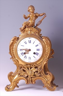 Lot 4-A 19th century French gilt bronze Rococo Revival...
