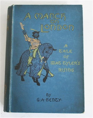 Lot 2001-HENTY, George Alfred, A March on London, Blackie...