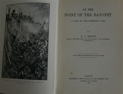 Lot 2003-HENTY, George Alfred, At the Point of the Bayonet,...