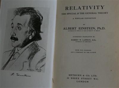 Lot 2006-EINSTEIN, Albert. Ph.D. Relativity, the Special...