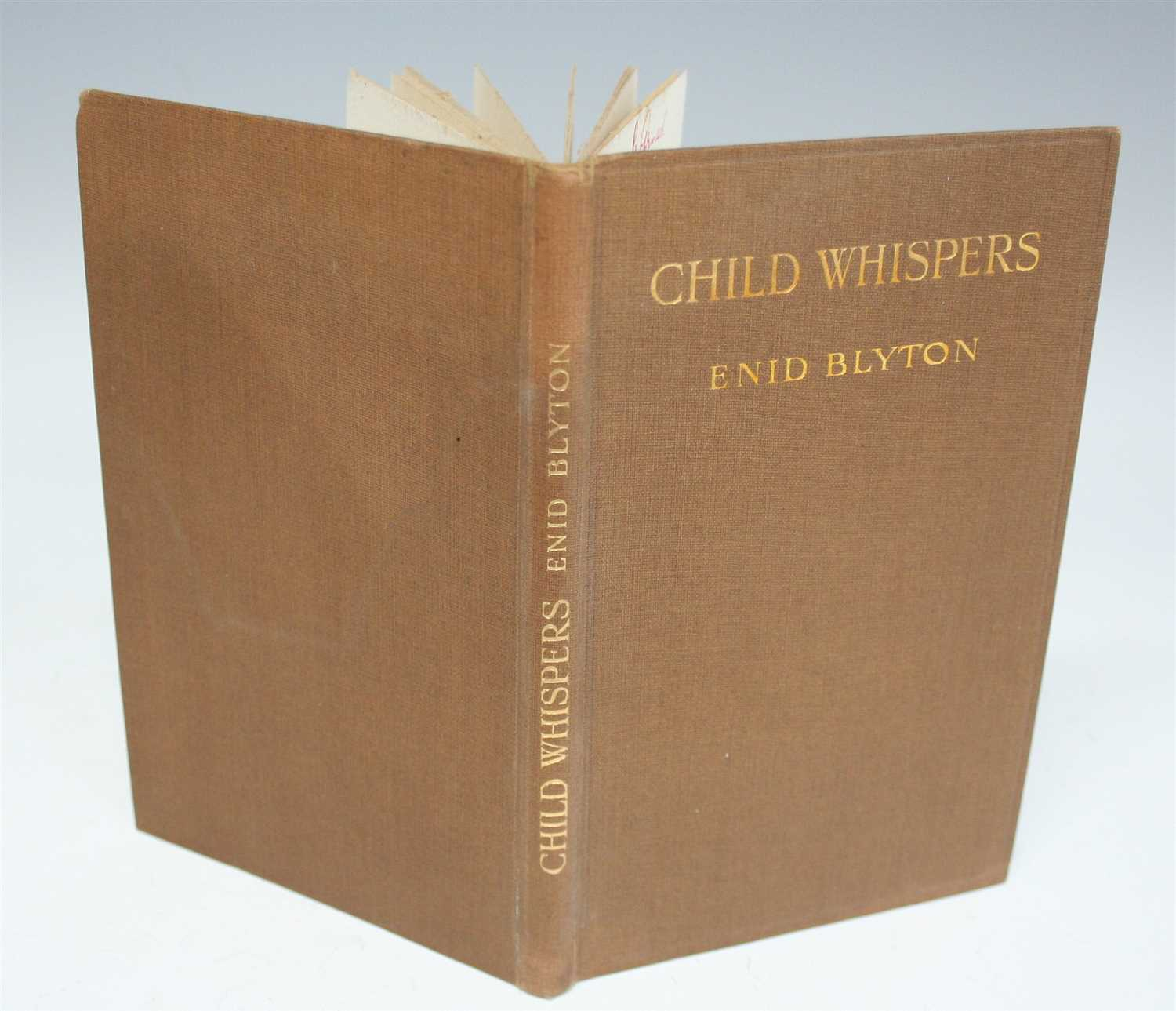 Lot 2008-BLYTON, Enid. Child Whispers. J. Saville & Co,...